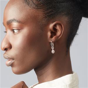 Molte Mini Hex Hoop Earrings in Sterling Silver
