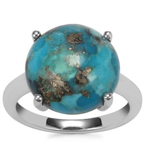 Bonita Blue Turquoise Ring in Sterling Silver 7.05cts