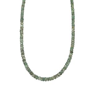 Alexandrite Graduated Bead Necklace in Sterling Silver 31.50cts