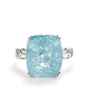 8.48ct Blue Crackled Quartz Sterling Silver Ring