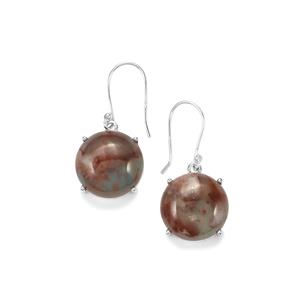 20.42ct Aquaprase™ Sterling Silver Earrings