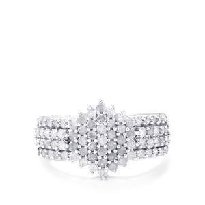 1ct Diamond 9K White Gold Ring