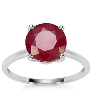 Malagasy Ruby Ring in 9K White Gold 4.18cts (F)