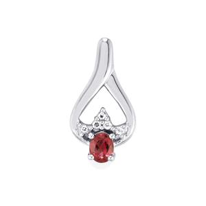 Garnet Pendant with Topaz in Sterling Silver 0.51cts