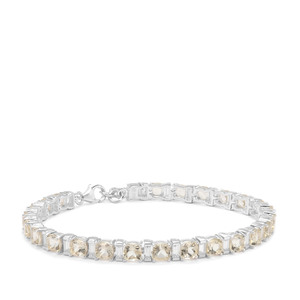 Serenite & White Zircon Sterling Silver Bracelet ATGW 15.94cts