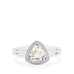 Ice Kunzite Ring in Sterling Silver 1.48cts