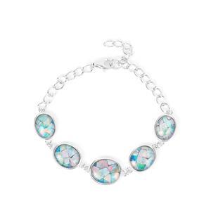 Mosaic Opal Bracelet in Sterling Silver