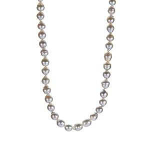 South Sea Cultured Pearl Necklace  in Sterling Silver (8mm)