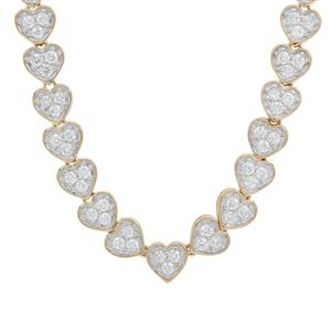 Diamond Necklace in 18K Gold 2cts