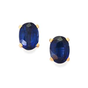 Daha Kyanite Earrings in 10k Rose Gold 2.04cts
