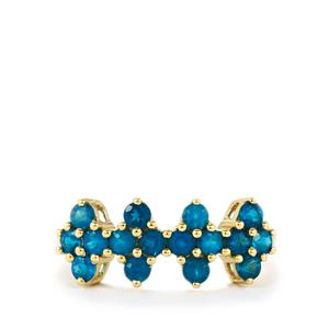 Brazilian Neon Apatite Ring in 10k Gold 0.96cts