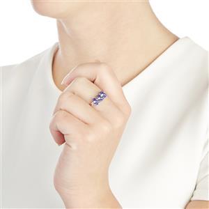 AA Tanzanite & White Zircon 10K White Gold Ring ATGW 1.94cts