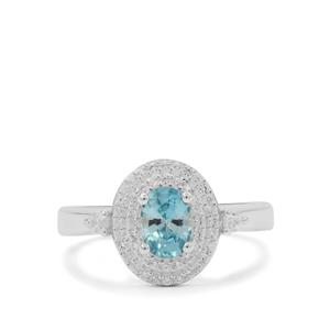 1.60ct Ratanakiri Blue & White Zircon Sterling Silver Ring