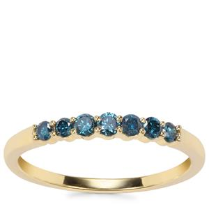 Blue Diamond Ring in 9K Gold 0.25ct