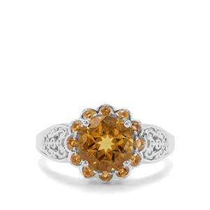 Xia Heliodor & Diamantina Citrine Sterling Silver Ring ATGW 1.88cts