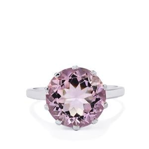 6ct Rose De France Amethyst Sterling Silver Ring