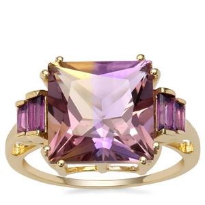 Anahi Ametrine Ring with Ametista Amethyst in 9K Gold 5.79cts