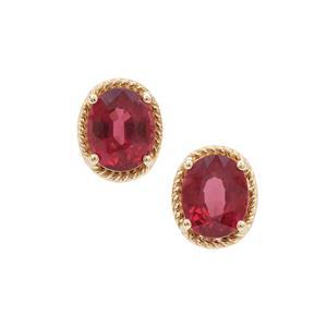Mangochi Garnet Earrings in 9K Gold 2.25cts
