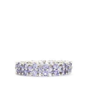 3.25ct Tanzanite Sterling Silver Ring