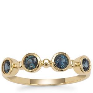 Australian Blue Sapphire Ring in 9K Gold 0.70ct