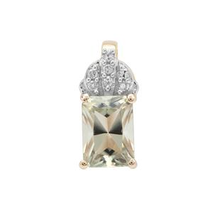 Csarite® Pendant with Diamond in 9K Gold 1.05cts