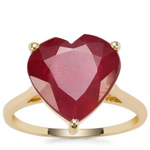 Malagasy Ruby Ring in 9K Gold 9.34cts (F)