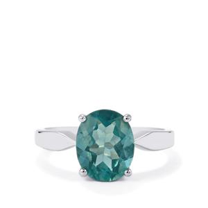 3.13ct Tucson Green Fluorite Sterling Silver Ring