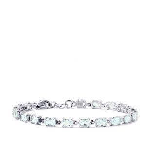 7.51ct Pedra Azul Aquamarine Sterling Silver Bracelet