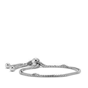 """9"""" Sterling Silver Altro Sliding Double Venetian Bracelet 7.48g"""