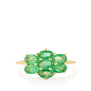 Zambian Emerald Ring  in 10k Gold 1.55cts
