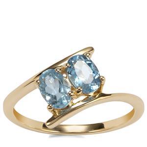 Mozambique Aquamarine Ring in 9K Gold 0.83ct