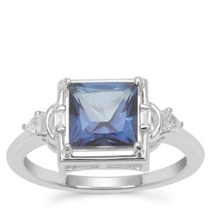 Hope Topaz Ring with White Zircon in Sterling Silver 2.30cts