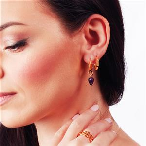 Molte Mini Hoop Earrings in Gold Plated Silver
