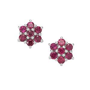 2.52ct Rajasthan Garnet in Sterling Silver Earrings