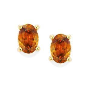 Morafeno Sphene Earrings in 9K Gold 1cts