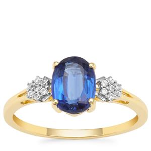 Nilamani Ring with White Zircon in 9K Gold 1.70cts