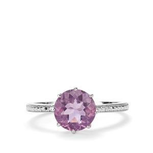 2.27ct Purple Fluorite Sterling Silver Ring