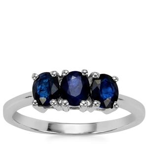 Sri Lankan Sapphire Ring in Sterling Silver 1.37cts