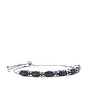 6.16ct Bengal Iolite Sterling Silver Slider Bracelet