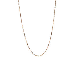 """18"""" 9K Gold Classico Faceted Trace Chain 1.14g"""