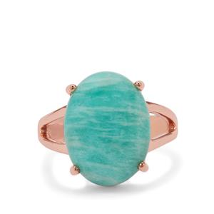 Amazonite Ring  in Rose Gold Plated Sterling Silver 8.55cts