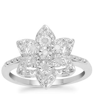 Diamond Ring in Sterling Silver 0.11ct
