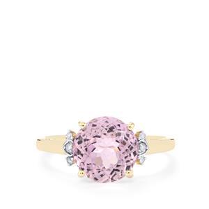Mawi Kunzite & Diamond 9K Gold Ring ATGW 3.53cts
