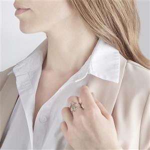0.73ct White Topaz Rose Gold Vermeil Ring