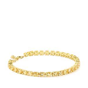Imperial Topaz Bracelet  in 9K Gold 12.45cts