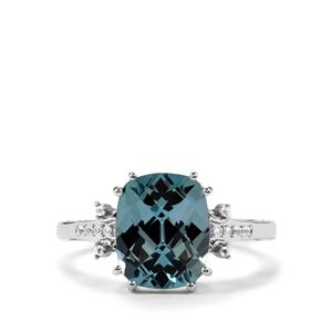 Versailles Topaz Ring with White Topaz in Sterling Silver 4.71cts