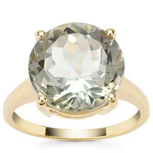 Prasiolite Ring in Gold Plated Sterling Silver 7.27cts