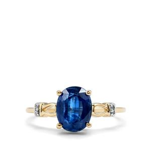 Daha Kyanite & Diamond 9K Gold Ring ATGW 2.35cts
