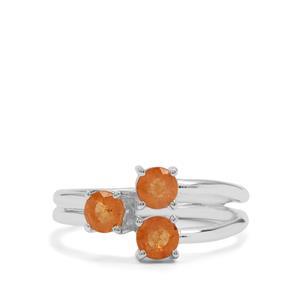 Mandarin Garnet Ring in Sterling Silver 1.50cts