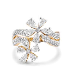 1.45ct Diamond 18K Gold Lorique Ring